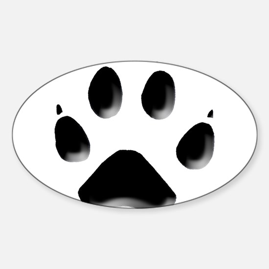 Wolf Track 1 Oval Decal