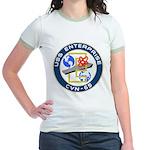 USS Enterprise (CVN 65) Jr. Ringer T-Shirt