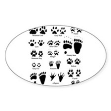 North American Predator Track Oval Decal