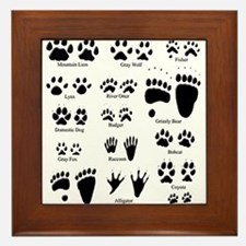 North American Predator Track Framed Tile