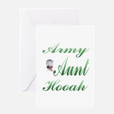 army aunt hooah Greeting Card