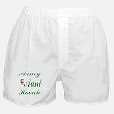 army aunt hooah Boxer Shorts