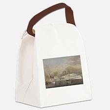 hudson river Canvas Lunch Bag