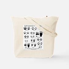 Predator Tracks on Back Tote Bag