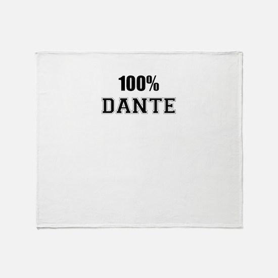 100% DANTE Throw Blanket