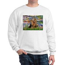 Monet's Lilies & Yorkie #7 Sweatshirt