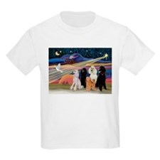 XmasStar/5 Poodles T-Shirt
