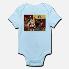 Santa's Whippet (#2) Infant Bodysuit