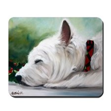 Christmas WESTIE DOG Mousepad