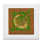 Celtic Knotted Beast Tile Coaster