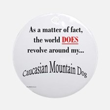 Caucasian World1 Ornament (Round)