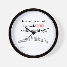 Caucasian World1 Wall Clock