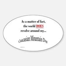 Caucasian World1 Oval Decal