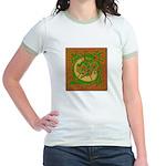 Celtic Knotted Beast (Front) Jr. Ringer T-shirt