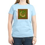 Celtic Knotted Beast (Front) Women's Pink T-Shirt