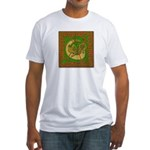 Celtic Knotted Beast (Front) Fitted T-Shirt