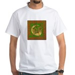 Celtic Knotted Beast (Front) White T-Shirt