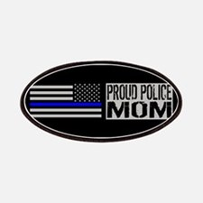 Police: Proud Mom (Black Flag Blue Line) Patch