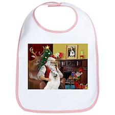Santa's Samoyed Bib