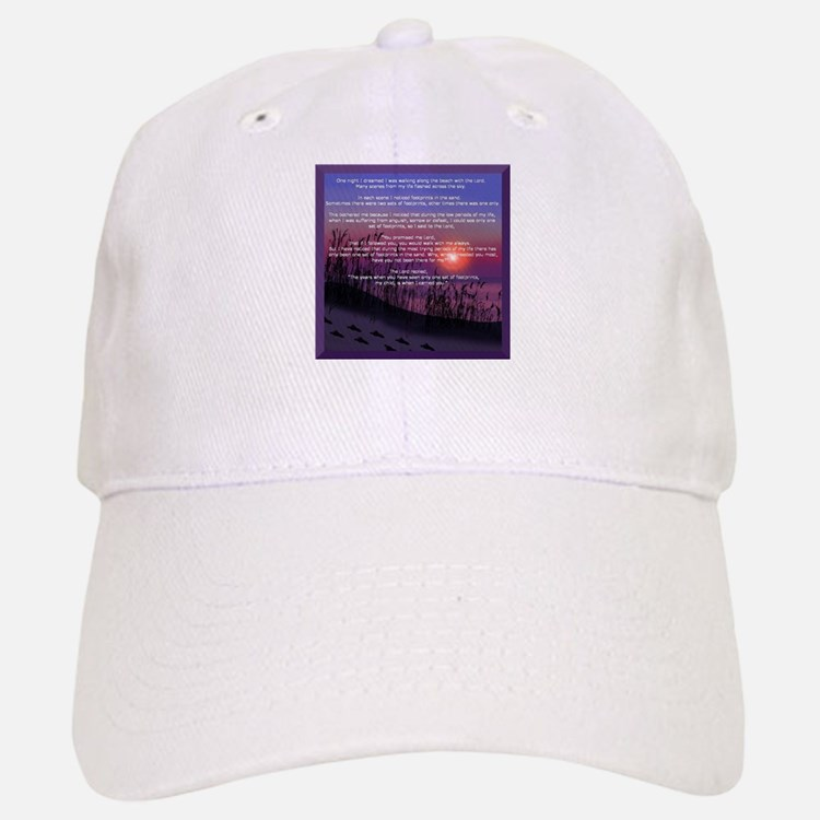 Footprints in the Sand Baseball Baseball Cap