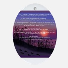 Footprints in the Sand Oval Ornament