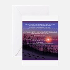 Footprints in the Sand Greeting Cards
