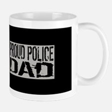 Police: Proud Dad (Black Flag Blue Line Mug