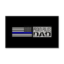 Police: Proud Dad (Black Flag & Car Magnet 20 x 12