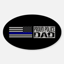 Police: Proud Dad (Black Flag Blue Decal