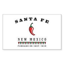 Santa Fe Pepper Rectangle Stickers