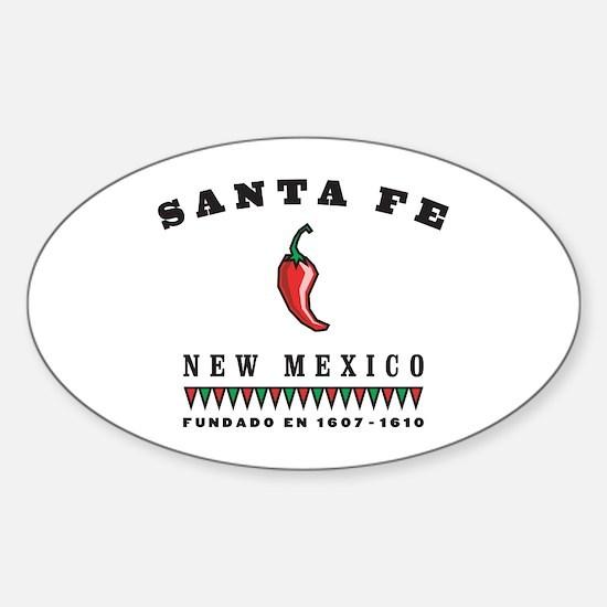 Santa Fe Pepper Oval Decal
