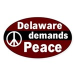 Delaware Demands Peace Oval Sticker