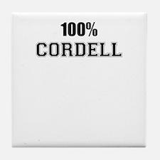 100% CORDELL Tile Coaster