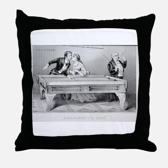 cirroer ives 19th century illustration Throw Pillo