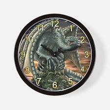 raptor dragon Wall Clock