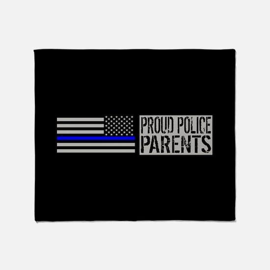 Police: Proud Parents (Black Flag Bl Throw Blanket