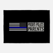 Police: Proud Parents (Black Flag B 5'x7'Area Rug