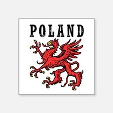 "Poland Square Sticker 3"" x 3"""