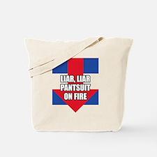 Liar Liar Hillary Clinton Tote Bag