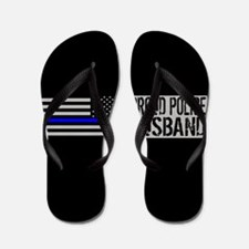 Police: Proud Husband (Black Flag Blue Flip Flops