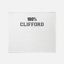 100% CLIFFORD Throw Blanket