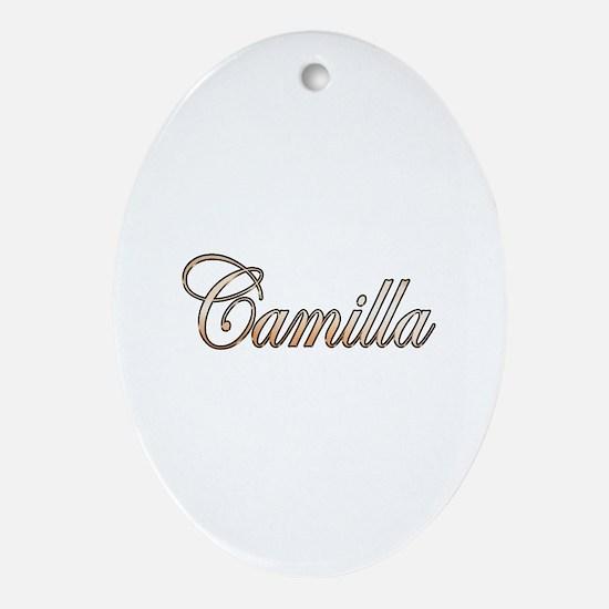Funny Camilla Oval Ornament