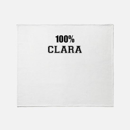 100% CLARA Throw Blanket
