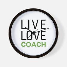 Live Love Coach Wall Clock