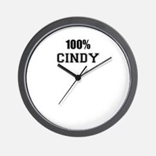 100% CINDY Wall Clock