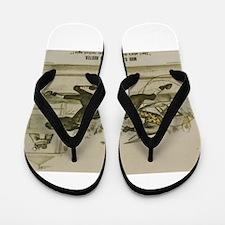 harness racing Flip Flops