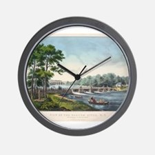 harlem river Wall Clock