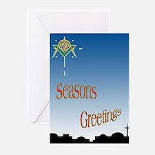 Masonic Seasons Greetings Greeting Cards (Pk of 20