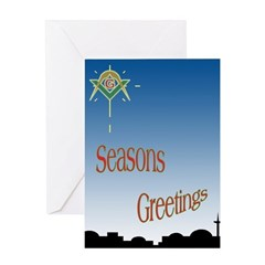 Masonic Seasons Greetings Greeting Card