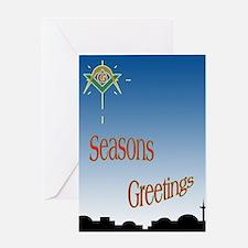 Masonic Seasons Greetings Greeting Card